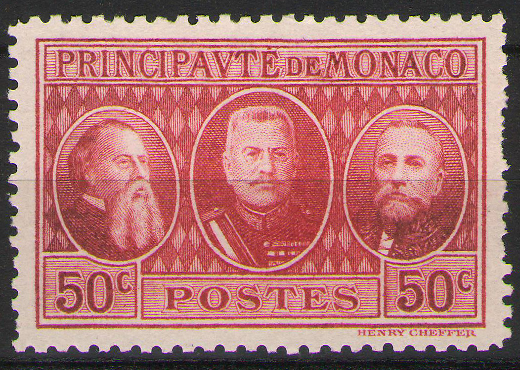 Monaco - 1928 - International Stamp Exhibition - 50c MNH ** - perfs as per scan - cv ?4.00