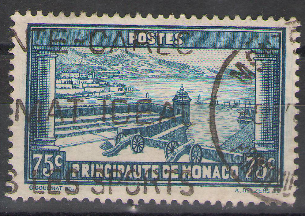 Monaco - 1933 - 75c MonteCarlo - Used (thiny thin)