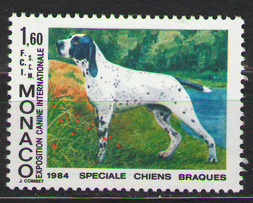 Monaco - 1984 - Internatioanl Dog Show - MNH