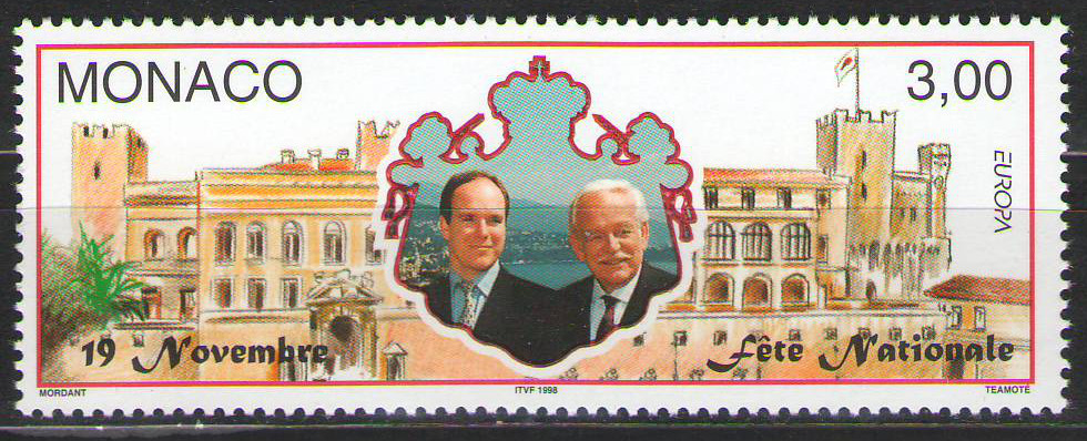 Monaco - 1998 - National Day - MNH - cv €1.50