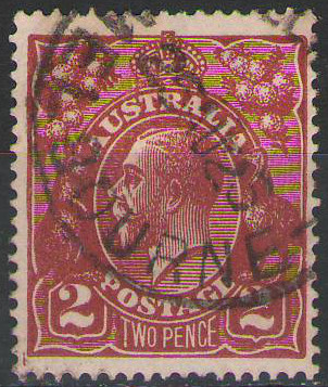 Australia - 1924 - SG78a 2d bright red -brown - Used with clear Melbourne Cancel - cv£8.00
