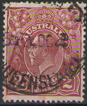 Australia - 1928 - SG98 2d red -brown - Used with clear Queensland Cancel - cv£9.50