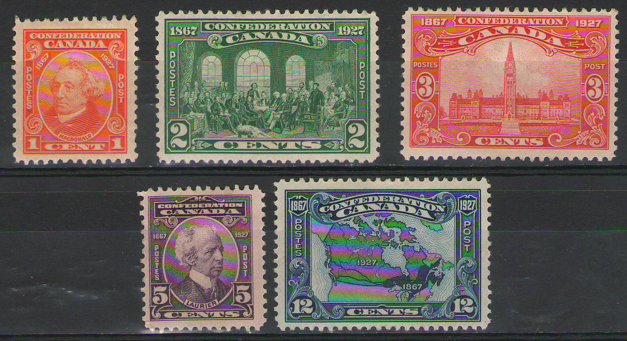 Canada - 1927 - Canada Confederation Set - Mint Hinged - SG266-270 - cv £42.00