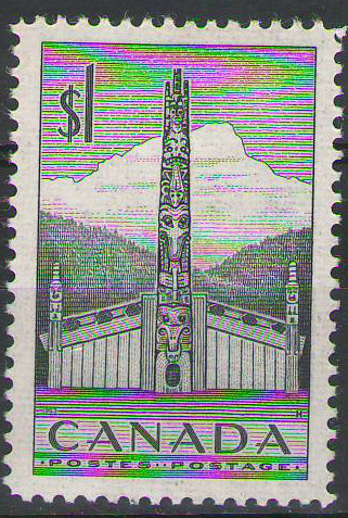 Canada - 1952 - Pacific Coast Indian House & Totem Pole - MH - SG446 - cv £3.25
