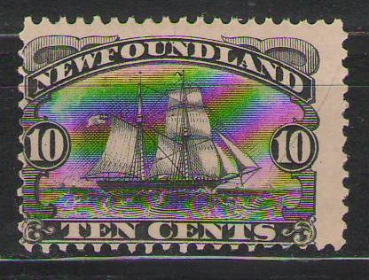 Canada - 1888 - 10c - Atlantic Brigantine Ship - MH - S#59