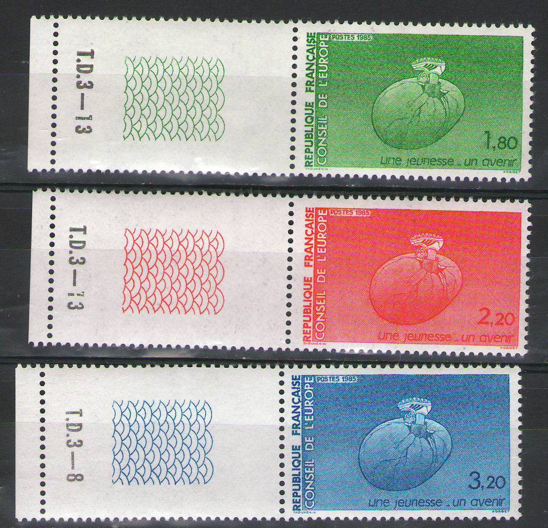 France Officials 1985 - Complete margin set - MNH Council of Europe