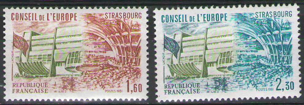 France Officials 1981 - MNH Council of Europe Fr1,60 & Fr2,30